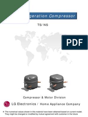 LG Reciprocating Catalog (1).pdf   Refrigerator   CapacitorScribd