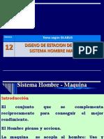 13.- Diseño de Estación de Trabajo - Sistema HOMBRE - MÁQUINA