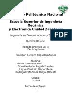 Practica #4 Electroquímica
