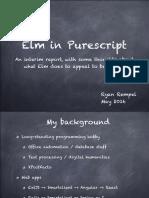 Elm in Purescript