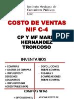 Costo de Los Vendido 2016 - NIF C4