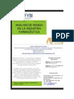 Curso SAFYBI Análisis de Riesgo en La Industria Farmacéutica