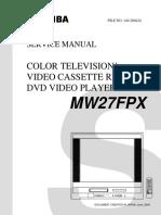 diagrama de tv toshiba modelo MW27FPX