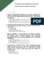 Atividade de Álgebra Com o Auxílio Do Algeplan