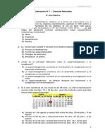 Evaluación N°1 Ciencias para 8° Año (f)