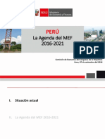Agenda del MEF 2016-2021