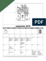 Pre-K Calendar September 2016