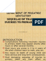 Sequelae of Traumatic Injuries to Primary Teeth Pedo