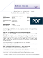 LOJA - Impressao de Nota Fiscal No SIGALOJA Venda Assistida - Estado de Sao Paulo