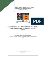 Alternativas de pavimentacion para codelco división Andina (Versión preliminar)