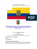 LEY DE ARBITRAJE Y MEDIACIÓN ECUADOR 2014.doc