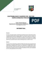 Sostenibilidad e ingreso del sector hidrocarburos Peruano