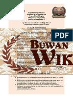 REPORT Buwan Ng Wika 2015