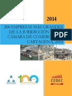 2015112517 INV 200 Empresas Mas Grandes de Cartagena, 2014
