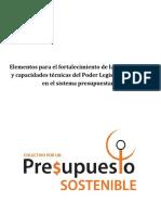 Elementos para el fortalecimiento de las atribuciones y capacidades técnicas del Poder Legislativo Federal  en el sistema presupuestario