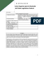 Propuesta de Iniciativa de Ley para la creación del Órgano Técnico Superior para la Hacienda Pública del Poder Legislativo Federal