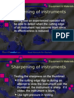 Sharpening of Instruments Cons.