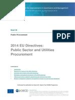 EU Directives Public Sector Utilities 2014