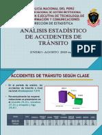 Presentacion Final Análisis Estadístico de Accidentes de Tránsito a Nivel Nacional Enero - Agosto 2014 vs 2015
