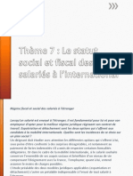 Statut Fiscal Et Social Des Salariés à l'International