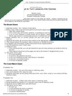 Jones - Ten Ways to Turn Lessons Into Games (TESL_TEFL)