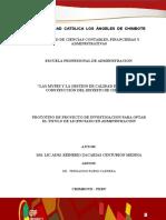 """""""Las Mypes y La Gestion de Calidad en El Sector Construcción Del Distrito de Chimbote"""""""
