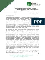 La Ponderación de Intereses Criterios Para La Valoracion de La Prueba Prohibida en El Nuevo Proceso Penal