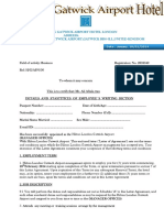 Hilton Gatwick Airport Hotel Contract Agreement Letter..
