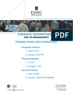 Honors List Finance
