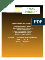 Proyecto Yogurt de Maca
