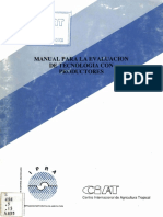 Manual Para La Evaluacion de Tecnologia Con Productores CIAT