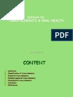 Trace Element and Oral Health Pedo