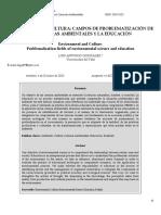 4. González (2012). El Ambiente y La Cultura Campos de Problematización de Las Ciencias Ambientales y La Educación