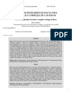 1. Gasper (2012). Interdisciplinariedad Hacia Una