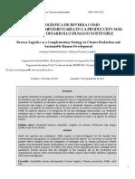 Peña-montoya & Pérez-lozada (2013) La Logística Reversa Como Estrategia Para La Producción Más Limpia