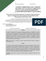 7. Torres Et Al.(2014) Propuesta de Gestión Territorial Del Complejo Ecológico