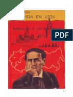 Rusia en 1931 Reflexiones al pie del Kremlin, Cesar Vallejo