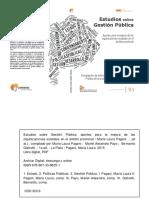 Libro Estudios Sobre Gestión Pública - IsBN Online
