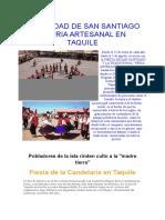 Festividad de San Santiago y Feria Artesanal en Taquile