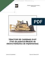 Manual Bulldozer d10t Caterpillar Tren Potencia Transmision Valvulas Electro Hidraulico Implementos Sistemas Circuitos
