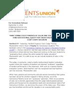 CT Parents Union CCJEF Statement