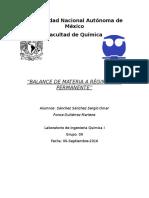 Practica 2 LIQ Balance de materia a regimen no permanente