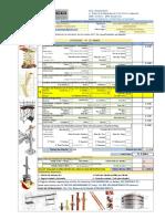 Cotizacion ANDECO SAC N°21-082015 -ENCOFRASAC-Ruedas Mod 600 con Nivelador-Alquiler