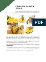 Dieta de Piña Para Bajar 4 Kilos en 2 Dias