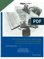 2016 Manual de Procedimientos Tecnicos Para Archivos Historicos de Universidades