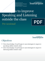 Strategies to Improve Speaking and Listening