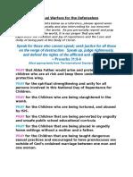 Children Prayer Points