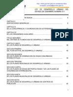 1. Ley de Desarrollo Urbano Del Estado 211