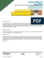 Expecificacion Cable Romex