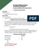 CMH Admission Criteria (Amended 13-07-16)
